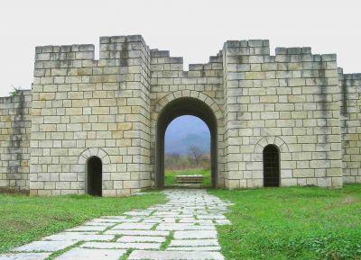 South gate of the Inner town - AM Veliki Preslav