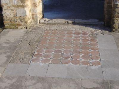 Flooring in the Round Church - AM Veliki Preslav