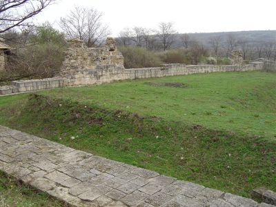 "Inner fortress wall at the ""Chupka"" - AM Veliki Preslav"