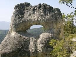 "The Eye - Rock phenomenon near the Osmar rock monasteries in The Osmarski Boaz area, north of the village of Osmar. The largest and most preserved of the monasteries is the ""Constantine Monastery"". - AM Veliki Preslav"