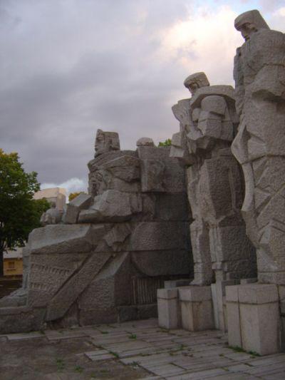 Monument of Tsar Simeon and the writers, downtown - AM Veliki Preslav